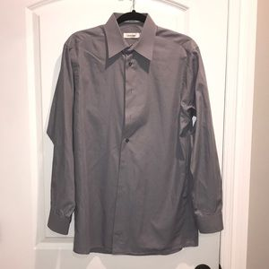 Calvin Klein Dress Shirt Grey Size 15 and 32/33